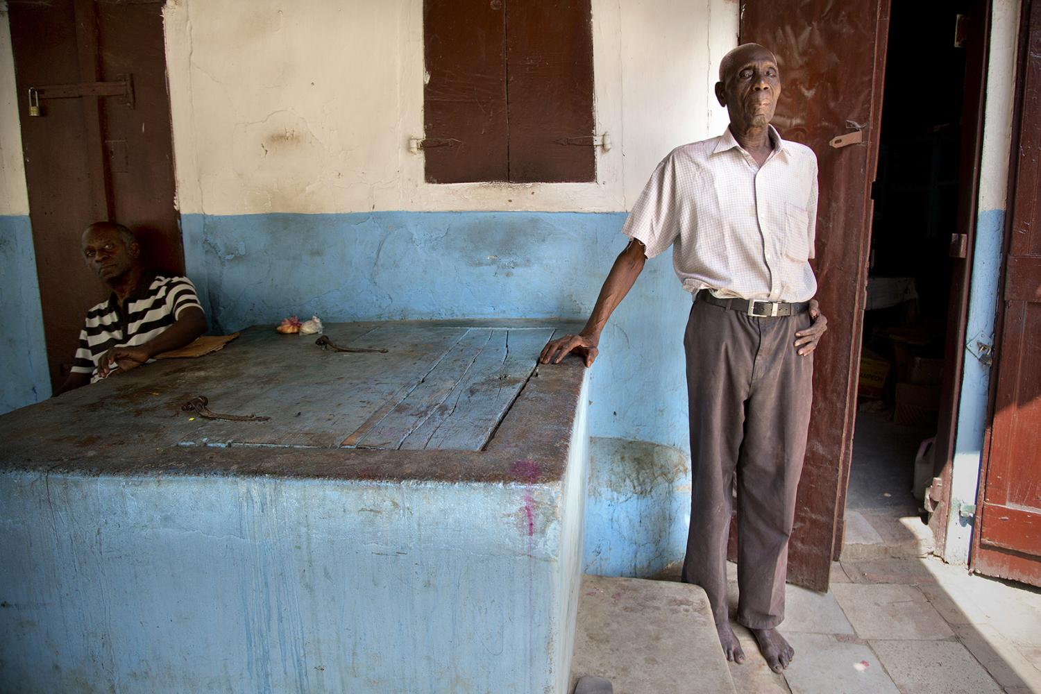 The oldest man alive in Milot, Haiti. He is 99 in the photo.